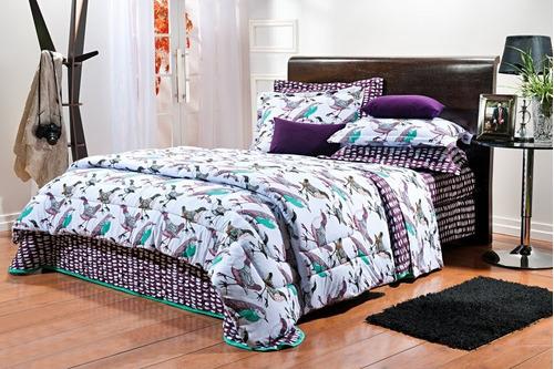 jogo de lençol casal estampado 4 peças malha 100% algodão