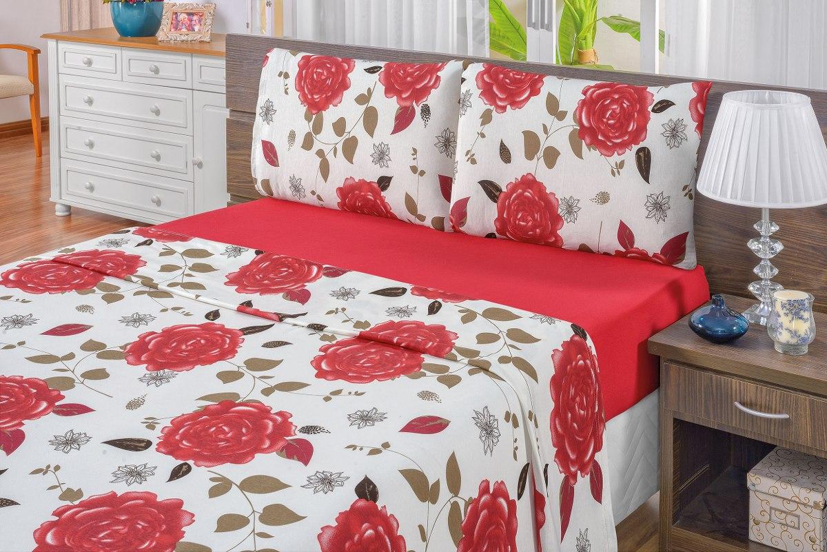6578cc7a92 jogo de lençol casal king 3 peças malha quality vermelho. Carregando zoom.