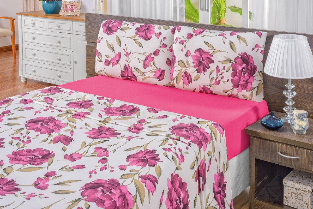 cdfebb2aa9 jogo de lençol casal king malha quality 4 peças pink. Carregando zoom.