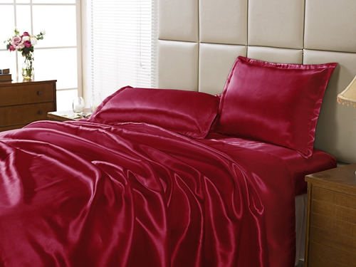 jogo de lençol cetim solteiro 3 peças seda com alto brilho