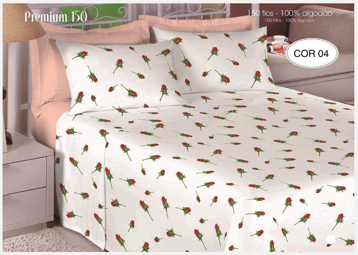b1e6678b23 jogo de lençol de cama casal 4 peças 100% algodão queen size. Carregando  zoom.