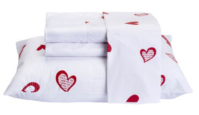 55657393b3 Jogo De Lençol Casal Escrito Love - Roupa de Cama no Mercado Livre Brasil