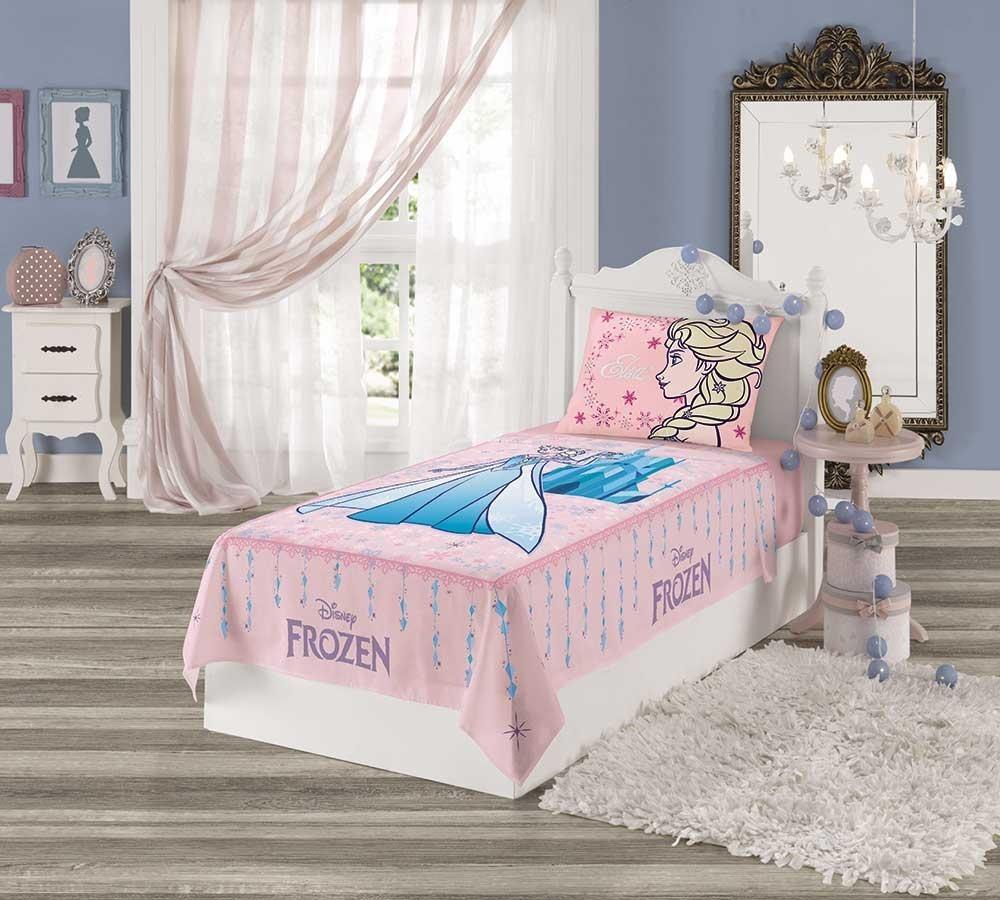 af1a7aca20 jogo de lençol infantil menina lepper frozen anna e elza. Carregando zoom.