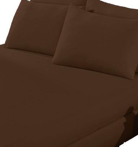 jogo de lençol liso casal com elástico 3 pçs - varias cores