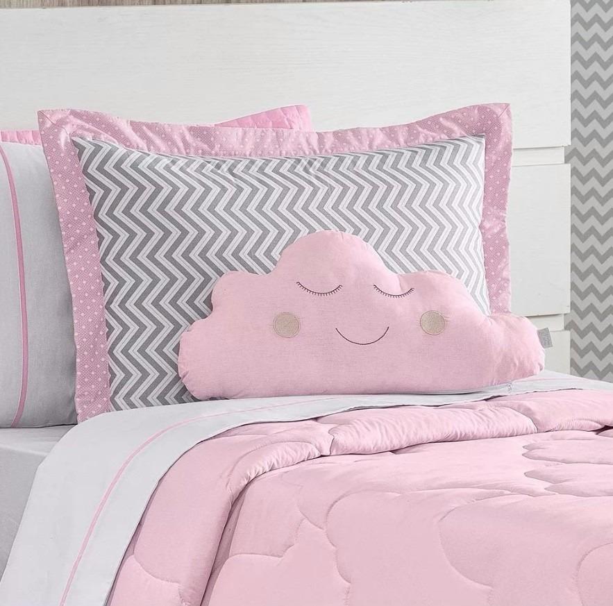 d9df255a12 jogo de lençol solteiro rosa e branco 3 pças percal 180 fios. Carregando  zoom.