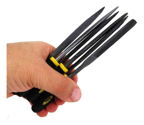 jogo de lima tipo agulha 140 mm 6 peças eda 7gm