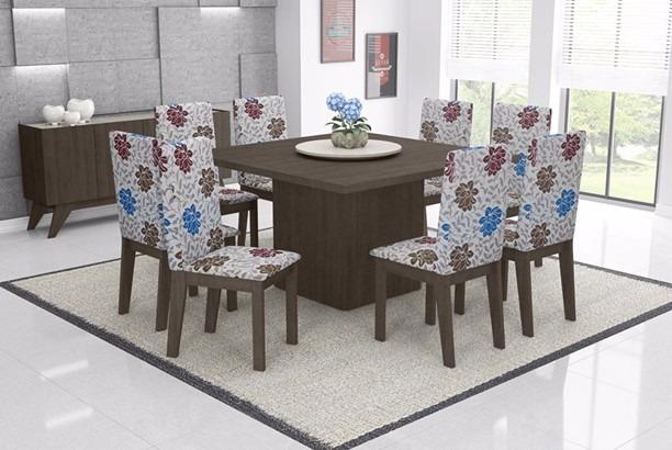 Jogo De Sala De Jantar Em Promocao ~ Jogo De Mesa Acácia Sala De Jantar Com 8 Cadeiras  R$ 1249,00 em