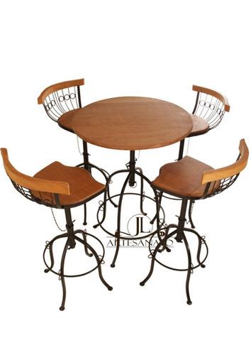 jogo de mesa bistrô  4 banquetas e 1 mesa imperdível