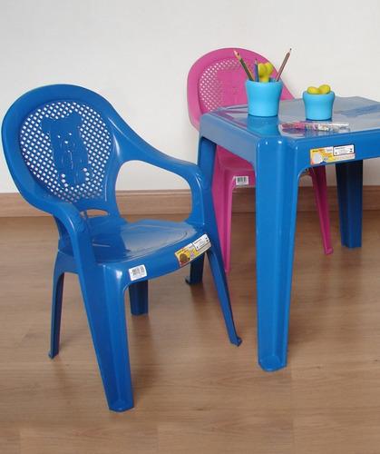 jogo de mesa com 2 cadeiras plástica poltrona infantil kit