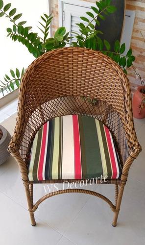jogo de mesa e cadeiras em vime fibra sintética p/ varandas