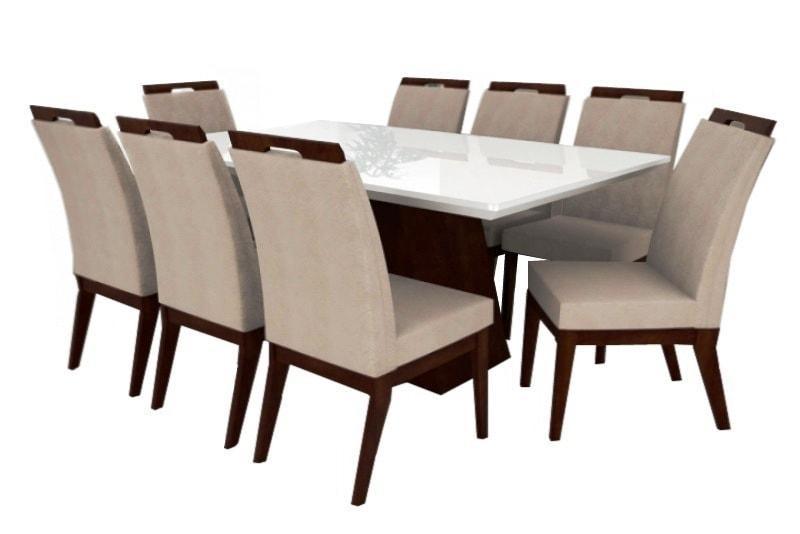 f4c462ce3 jogo de mesa retangular barcelona e 8 cadeiras valência. Carregando zoom.