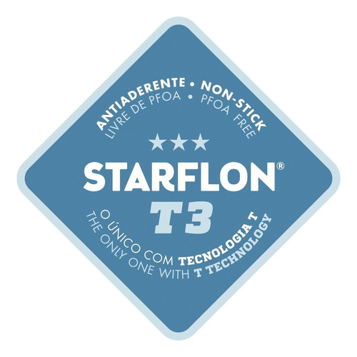 jogo de panela mônaco 5 pçs antiaderente starflon tramontina
