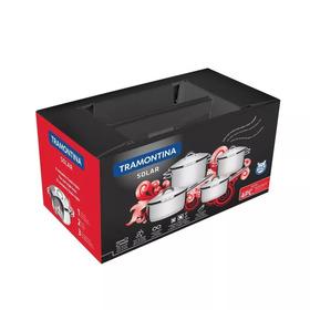 Jogo De Panelas Aço Inox - 4 Peças- Solar -tramontina -caixa