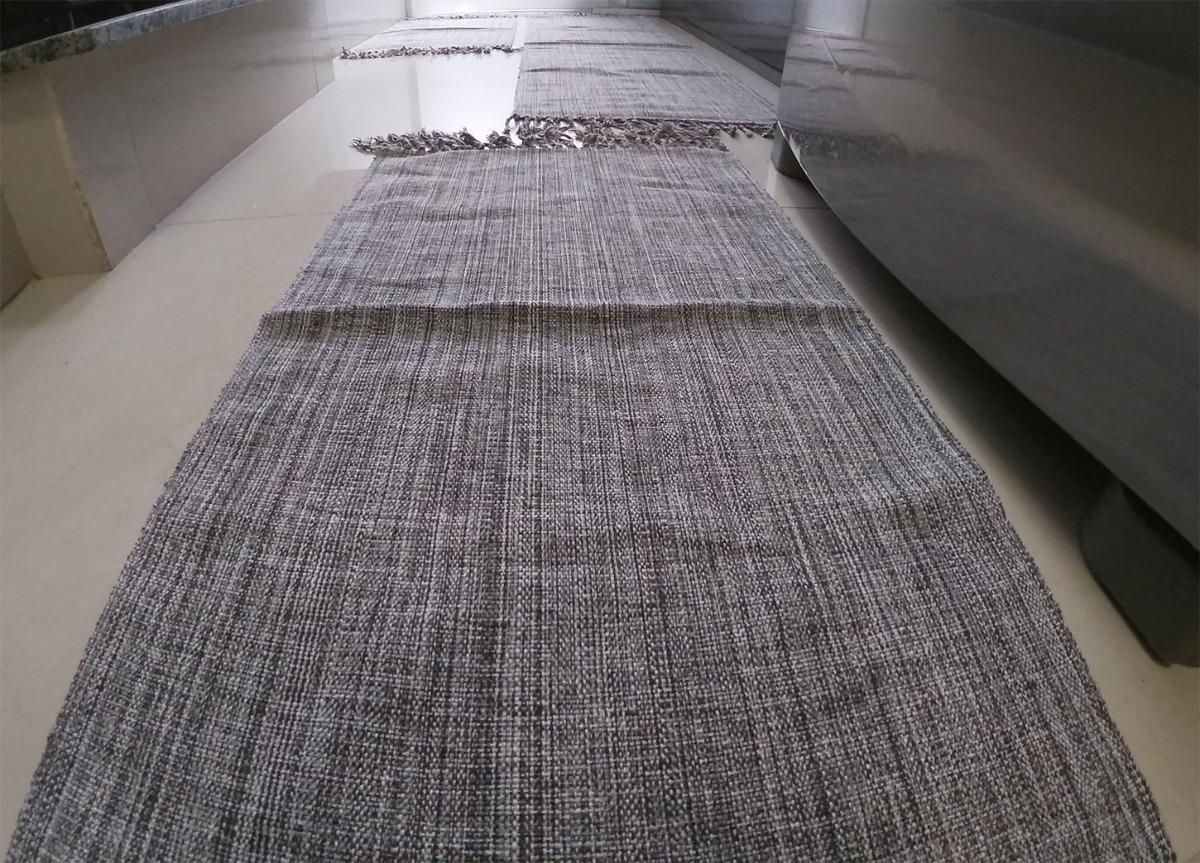 f259729c0 jogo de passadeira tapete tear algodão kit 03 peças cozinha. Carregando  zoom.