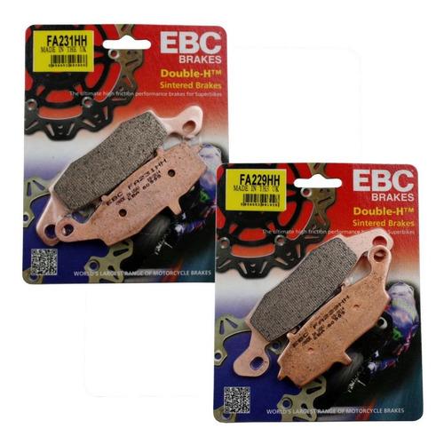 jogo de pastilhas freio ebc er6n 11-14 dianteira sinterizada