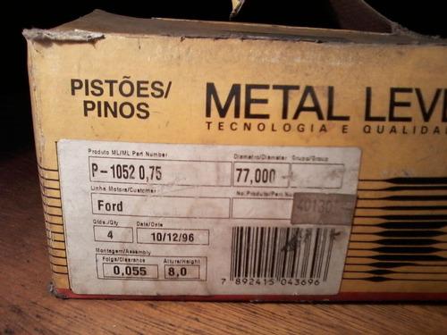 jogo de pistão metal leve 0,75 alcool  motor cht 1.6