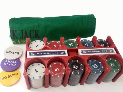 jogo de poquer kit 200 fichas suporte cartas tapete estojo