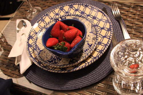 jogo de pratos rasos coup fish porto brasil cerâmica 6 un