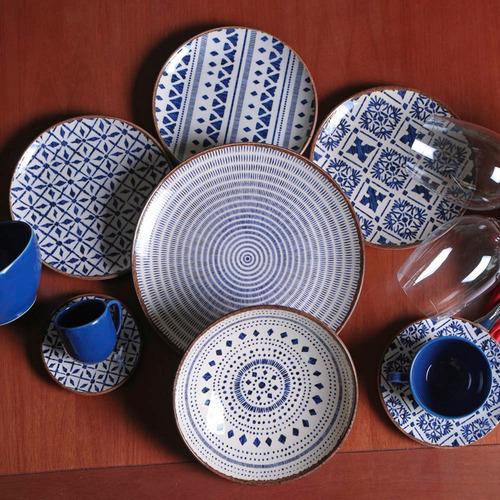 jogo de pratos rasos, fundos e de sobremesa coup asteca 6uni