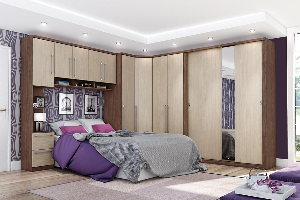 Jogo De Quarto Casal Completo Dormitório Henn Criative R