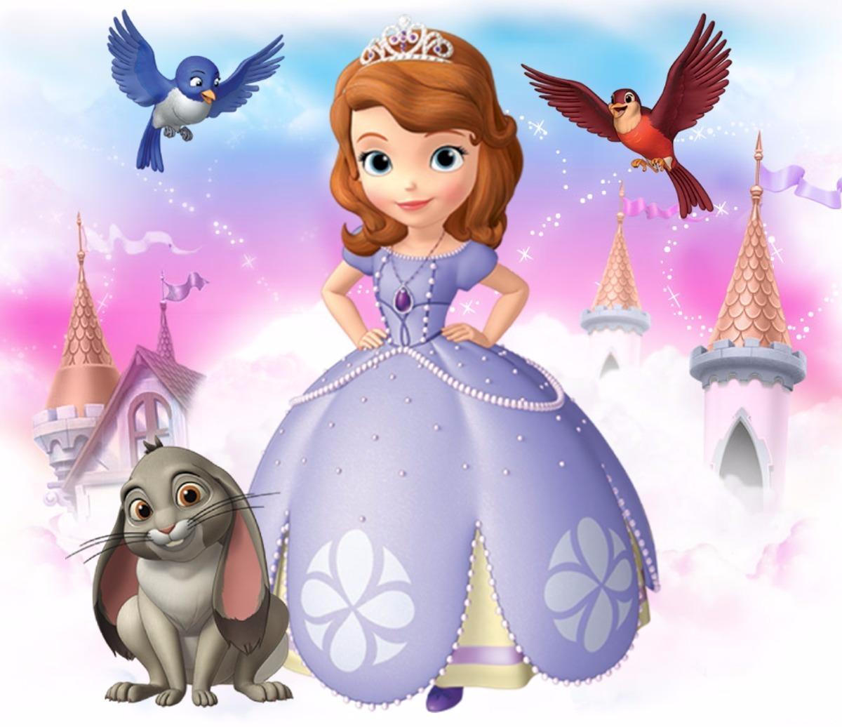 Jogo De Quarto Infantil Colcha E Cortina Da Princesa Sofia R  ~ Decoração Quarto Infantil Princesas