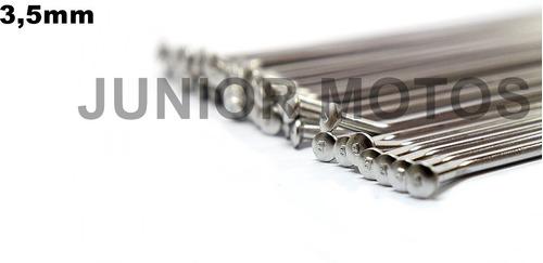 jogo de raios inox bace 3,5mm par xtz 125