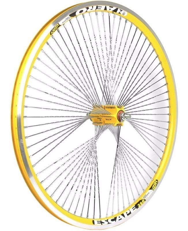 Jogo De Roda 72 Furos Aro 26 Aero Vzan Amarelo Mountain Bike R