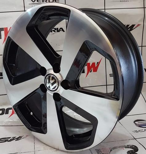 jogo de roda aro 17 golf gti 5x100 preta frete gratis