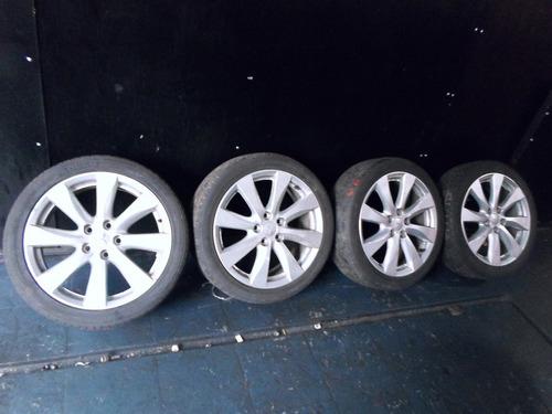 jogo de rodas c/ pneu lancer gt 2013