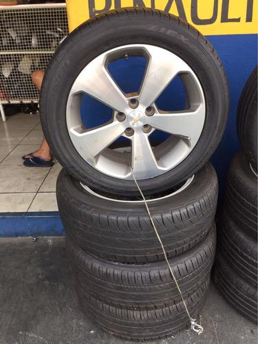 jogo de rodas com pneus cruze 2015 225/50 aro 17 original