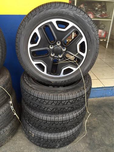 jogo de rodas com pneus original jeep renegade diesel r17