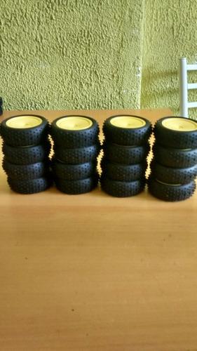 jogo de rodas com pneus sextavado 12