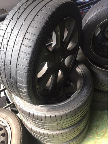 jogo de rodas e pneus original elantra  2012 215/45 r 17