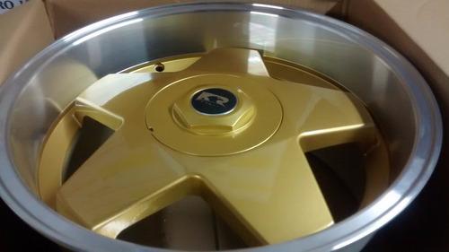 jogo de rodas k56 borbet aro 17x7 4x100/108 preta diamantada