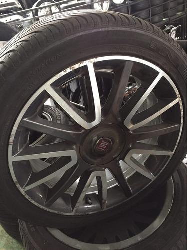 jogo de rodas sem pneus original fiat bravo 2013 215/45 r17
