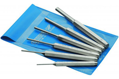 jogo de saca pino paralelo com 6 peças  2.0 a 8.0 mm gedore