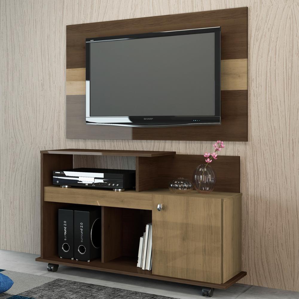 Jogo De Sala Bancada P Tv Com Painel Conjunto Moveis R 329 90 Em  -> Sala De Tv E Jogos