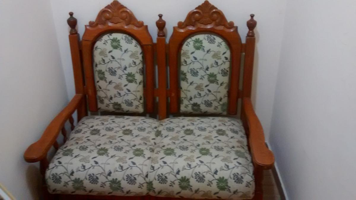 Jogo de sof de madeira estilo colonial r em mercado livre - Sofas estilo colonial ...