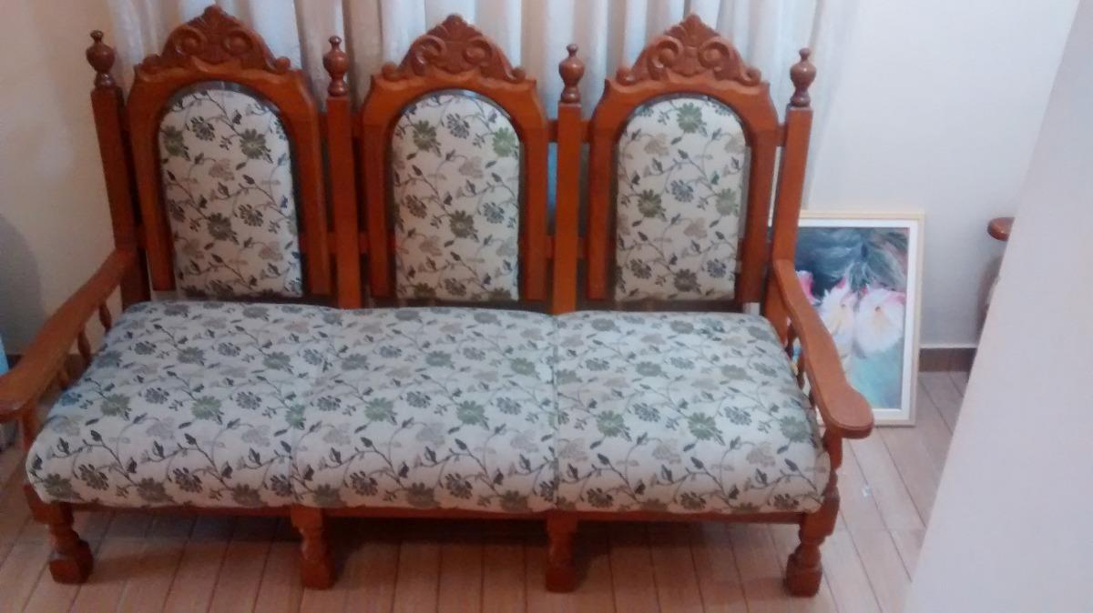 Jogo de sof de madeira estilo colonial r em - Sofas estilo colonial ...
