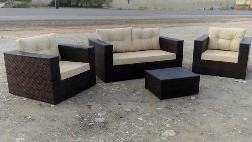jogo de sofá quadrado em fibra sintética