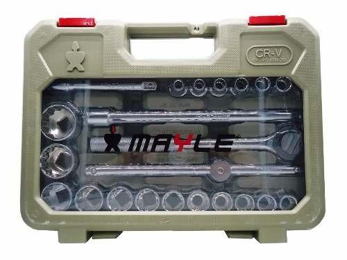 jogo de soquete kit chave catraca pito mecânica pesada mayle