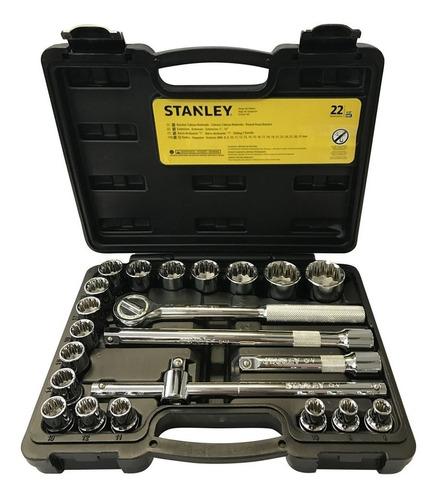 jogo de soquetes 1/2  - 8 a 32mm stanley - 22 peças - stmt81242 stmt81242-840