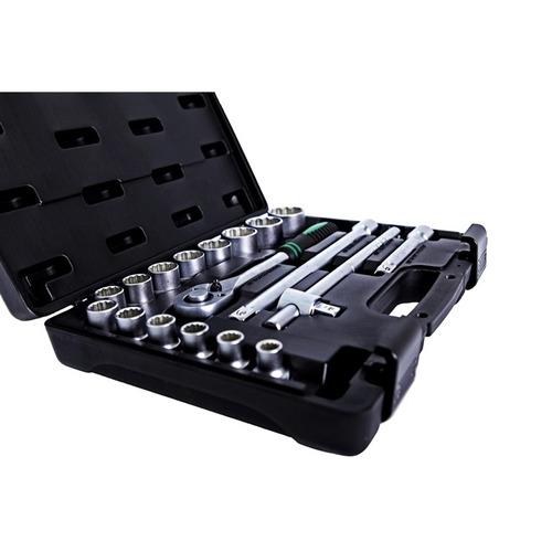 jogo de soquetes com maleta 8 a 32mm 24 pcs - stels