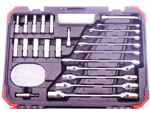 jogo de soquetes gedore red sextavados c/ 92 peças r46003092 chave catraca 1/4 e 1/2 + combinadas + estrelas articulada
