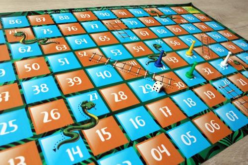 jogo de tabuleiro cobrinha em lona infantil