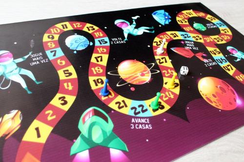 jogo de tabuleiro espaço em lona infantil