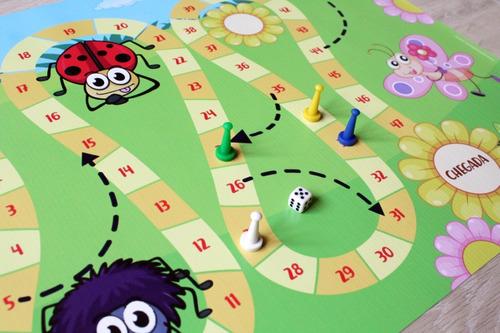 jogo de tabuleiro jardim em lona infantil