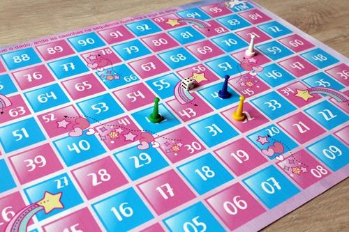 jogo de tabuleiro unicórnio em lona infantil
