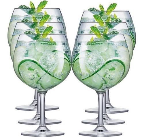 jogo de taças de gin tonica cristal tritan 6pcs 710ml schoot