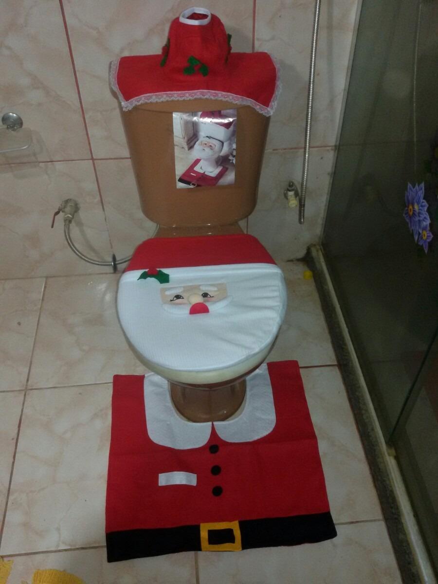 Jogo De Tapete Banheiro Para Natal Carregando Zoom
